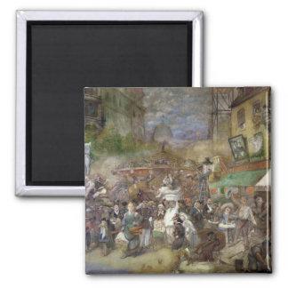El panel decorativo que representa París Imán Cuadrado