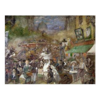 El panel decorativo que representa París Postal