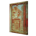 El panel del Cubiculum del dormitorio del Impresión En Lienzo Estirada