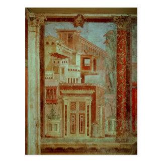El panel del Cubiculum del dormitorio del Tarjeta Postal