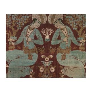 El panel del estilo de Isfahán, persa, siglo XVII  Impresión En Madera