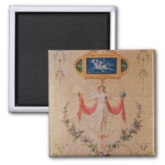 El panel del gabinete de señora de Marie-Antonieta Imán Cuadrado
