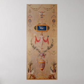 El panel del gabinete de señora de Marie-Antonieta Impresiones