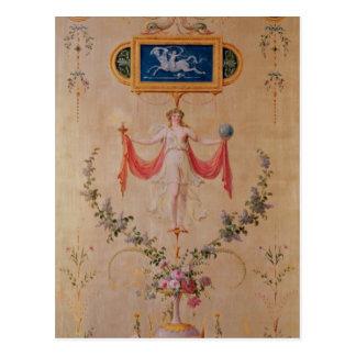 El panel del gabinete de señora de Marie-Antonieta Tarjetas Postales