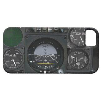 El panel del instrumento de aviones iPhone 5 funda