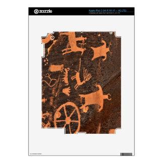 El panel del petroglifo de la roca del periódico - iPad 3 pegatinas skins