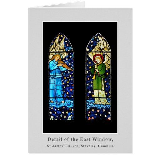 El panel del vitral de William Morris Tarjeta De Felicitación