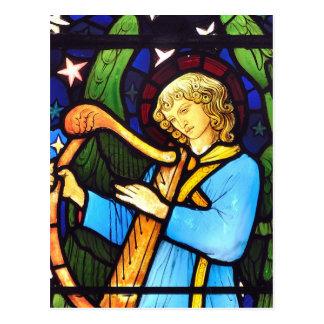 El panel del vitral de William Morris Tarjeta Postal