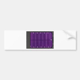 el panel fotovoltaico pegatina de parachoque