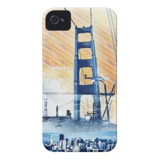 El panel icónico de GoldengateBridge San Francisco Case-Mate iPhone 4 Cárcasas