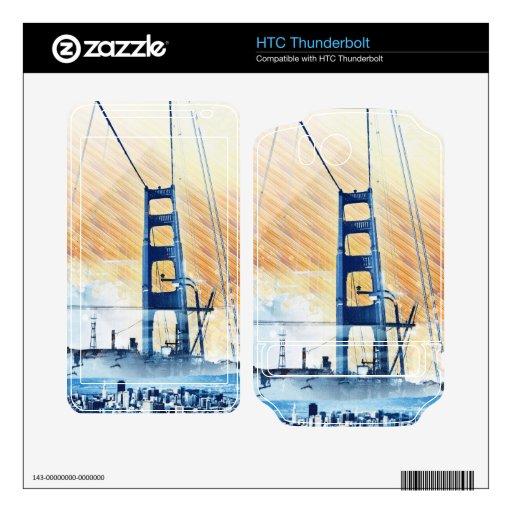 El panel icónico de GoldengateBridge San Francisco HTC Thunderbolt Calcomanías
