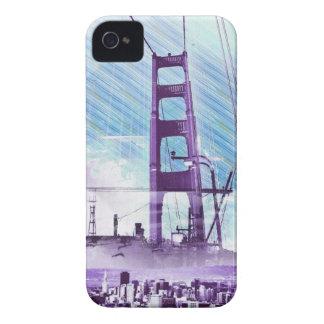 El panel icónico de GoldengateBridge San Francisco iPhone 4 Case-Mate Fundas