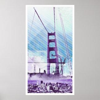 El panel icónico de GoldengateBridge San Francisco Impresiones
