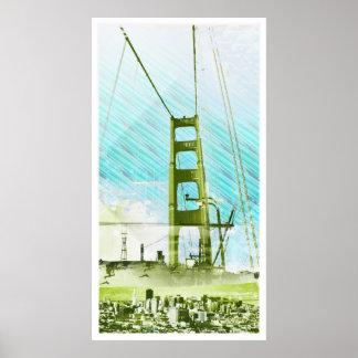 El panel icónico de GoldengateBridge San Francisco Poster