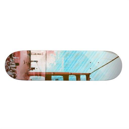 El panel icónico de GoldengateBridge San Francisco Tablas De Skate