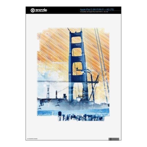 El panel icónico de GoldengateBridge San Francisco iPad 3 Pegatina Skin