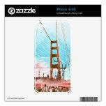 El panel icónico de GoldengateBridge San Francisco Calcomanía Para iPhone 4S