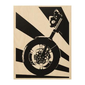 "El panel izquierdo (1 3) de Moto Guzzi 11"""" arte Cuadro De Madera"