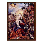 El panel medio del altar de Aschaffenburg: Maria c Tarjetas Postales