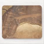 El panel Mousepad del arte de la roca de Rochester Alfombrillas De Ratones