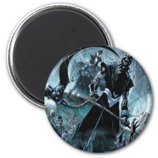 El panel negro del cuerpo de la linterna imán redondo 5 cm