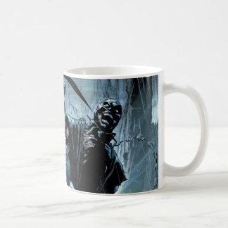 El panel negro del cuerpo de la linterna tazas de café