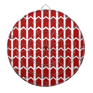 El panel rojo brillante de la cerca