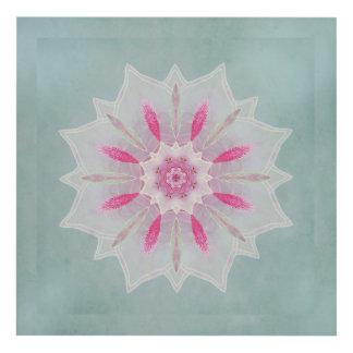 El panel rosado del arte de la pared de Lotus del