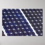 El panel solar posters