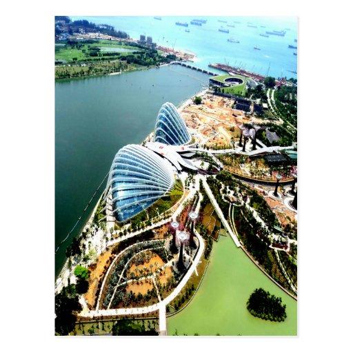 el panel solar Singapur Tarjeta Postal