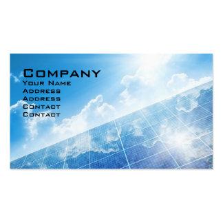 El panel solar plantillas de tarjetas personales