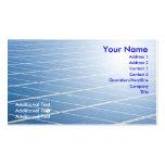 El panel solar tarjetas de visita