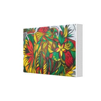El panel tribal colorido impresiones en lona estiradas