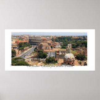 El panorama romano de Colosseum Posters