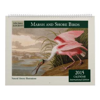 El pantano de Audubon y calendario de los pájaros