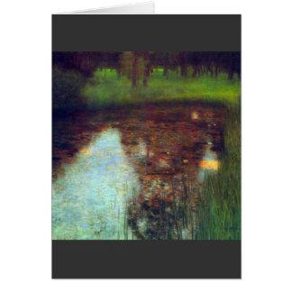 El pantano de Gustavo Klimt Tarjeta De Felicitación