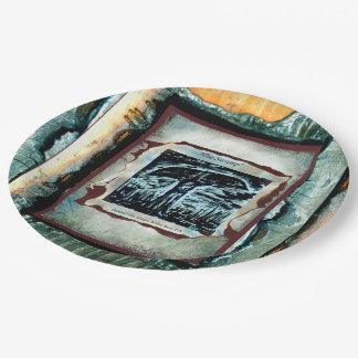 El pantano platos de papel