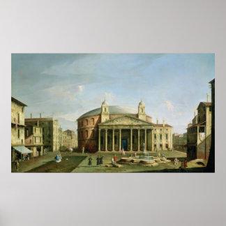 El panteón en Roma Poster