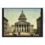 El panteón, obra clásica Photochrom de París, Fran Tarjeta