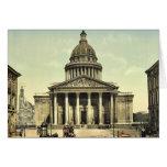 El panteón, obra clásica Photochrom de París, Fran Felicitaciones