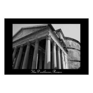El panteón poster de Roma