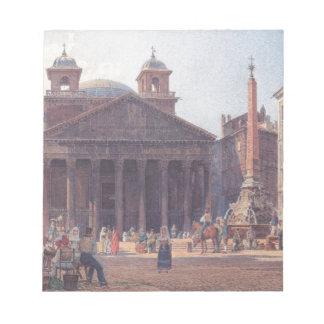 El panteón y el della Rotonda de la plaza en Roma Blocs De Papel