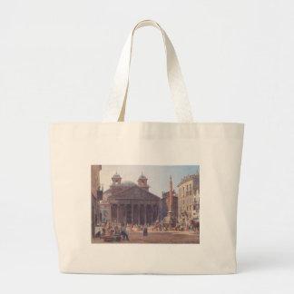 El panteón y el della Rotonda de la plaza en Roma Bolsa Tela Grande