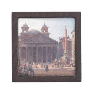 El panteón y el della Rotonda de la plaza en Roma Caja De Recuerdo De Calidad