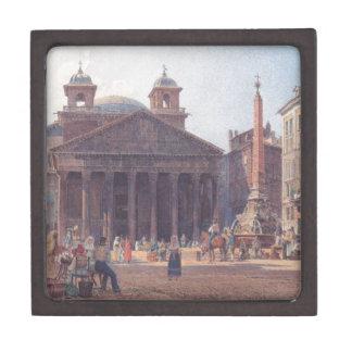 El panteón y el della Rotonda de la plaza en Roma Caja De Regalo De Calidad