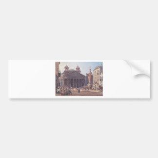 El panteón y el della Rotonda de la plaza en Roma Pegatina Para Auto