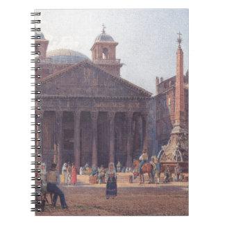 El panteón y el della Rotonda de la plaza en Roma Notebook