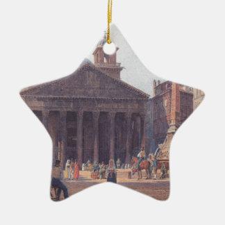 El panteón y el della Rotonda de la plaza en Roma Adorno De Cerámica En Forma De Estrella
