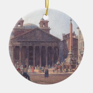 El panteón y el della Rotonda de la plaza en Roma Adorno Redondo De Cerámica