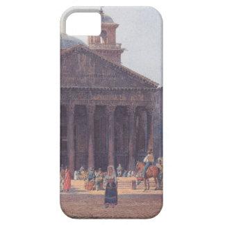 El panteón y el della Rotonda de la plaza en Roma iPhone 5 Funda